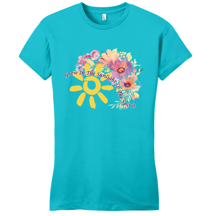 Grow in the Sunlight Turquoise Tee