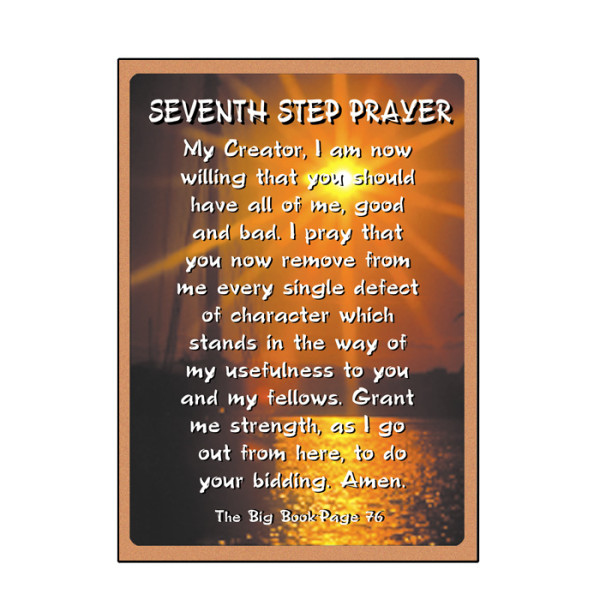 Seventh Step Prayer Card - 2