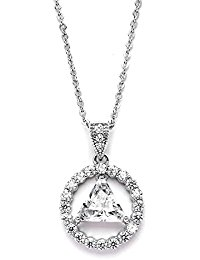AA Recovery Symbol Cubic Zirconia Necklace