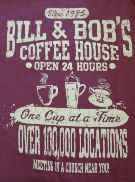 Bill & Bob's Coffee House Tee Red