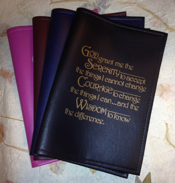 Big Book Cover with Serenity Prayer
