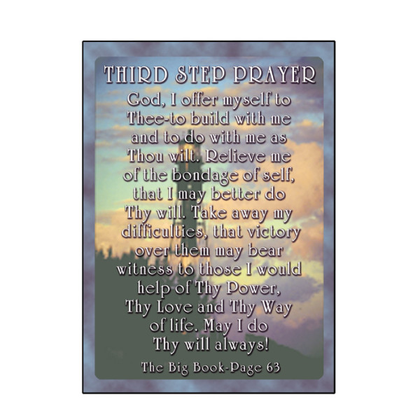 Third Step Prayer Card