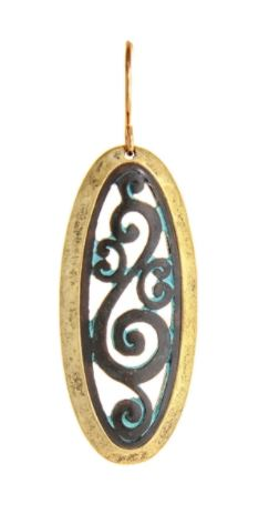 Patina Oval Swirl Earrings
