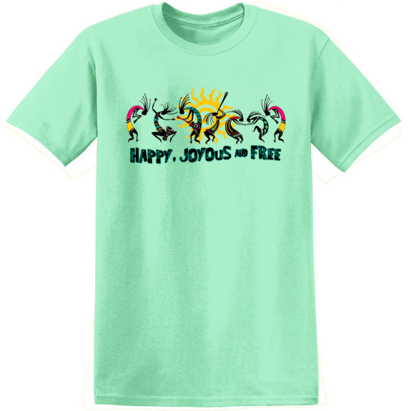 Happy Joyous & Free Tee - Mint- Womens Cut