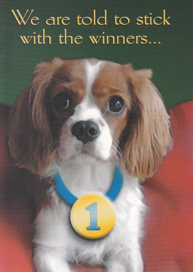 Stick With The Winners Dog Card