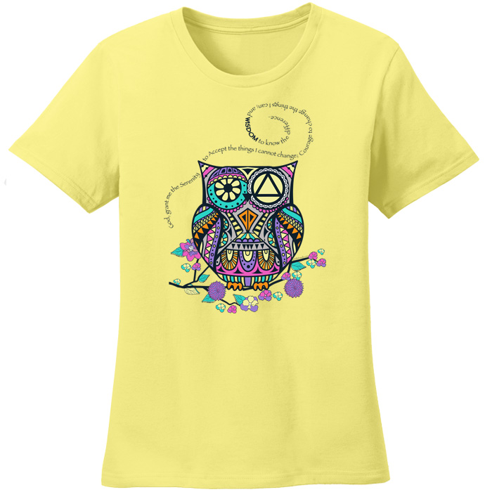 Serenity Prayer Owl - Yellow