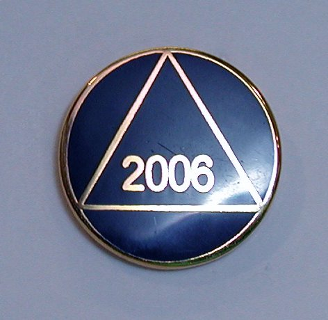 Sobriety Year Lapel Pin