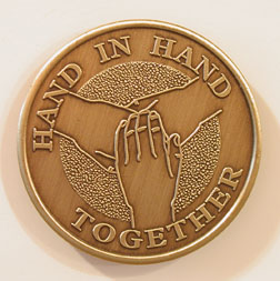 Hand in Hand Together Bronze Medallion