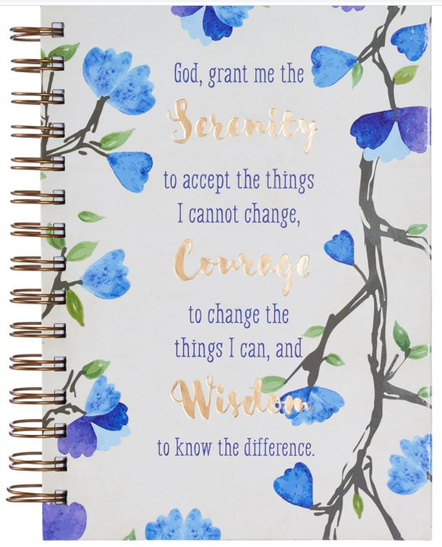 Serenity Prayer Hardcover Spiral Journal