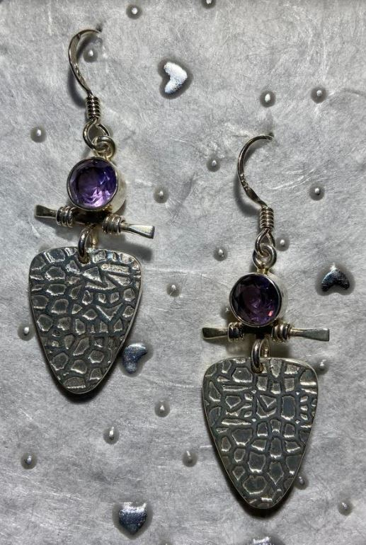Amethyst Balance Earrings