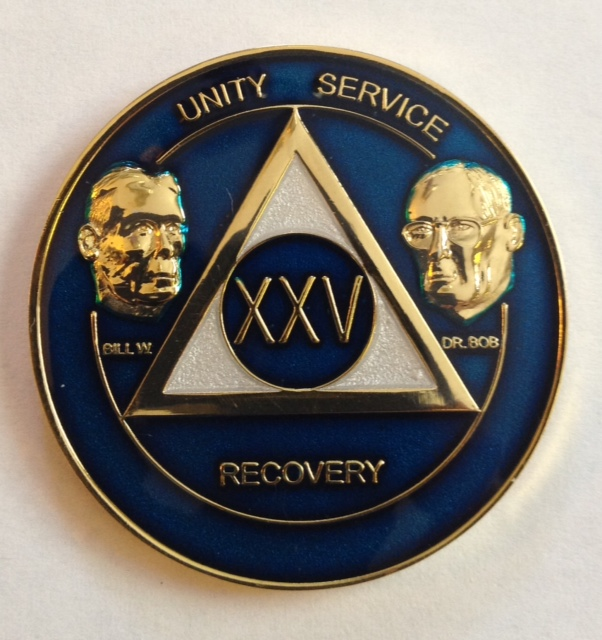 AA Bill & Bob Anniversary Medallion (Blue)