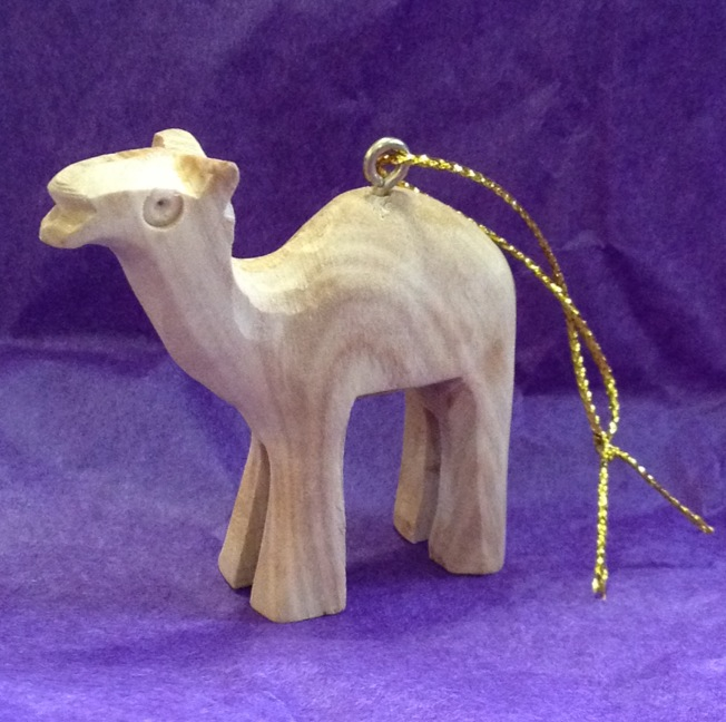 Small Carved Camel Ornament