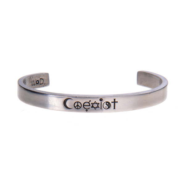 Coexist Pewter Cuff