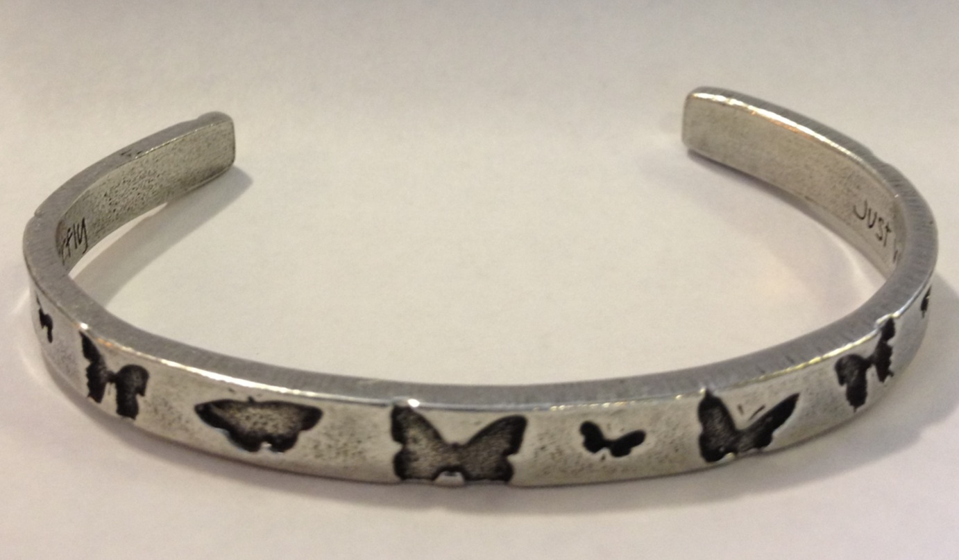 Butterfly Pewter Cuff