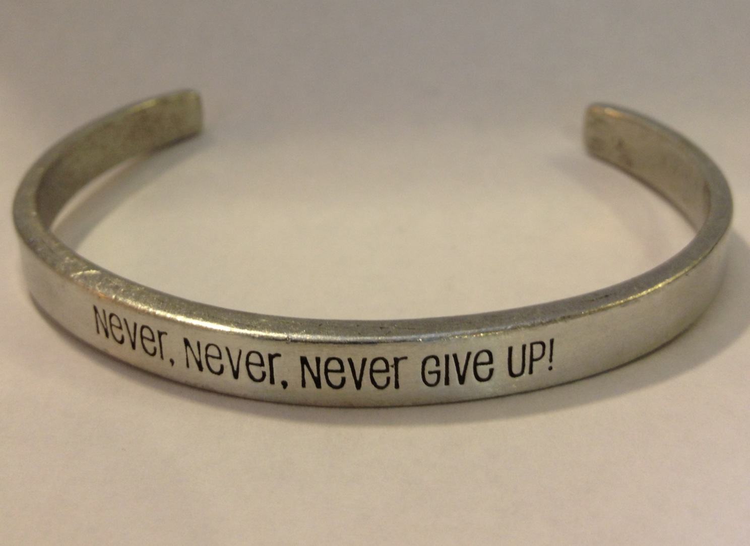Never Give Up Cuff