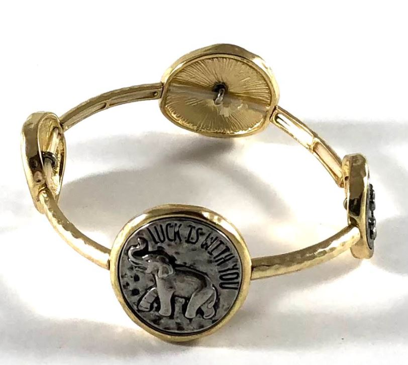 Luck is With You Elephant Bracelet