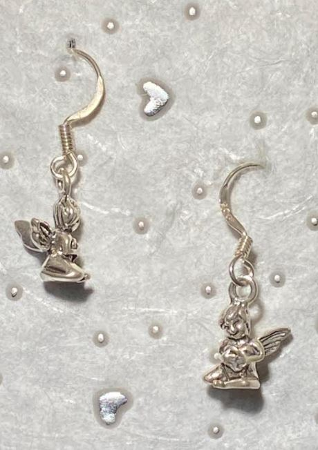 Tiny Sterling Fairy Earrings