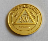 AA Gold Plate Anniversary Medallion