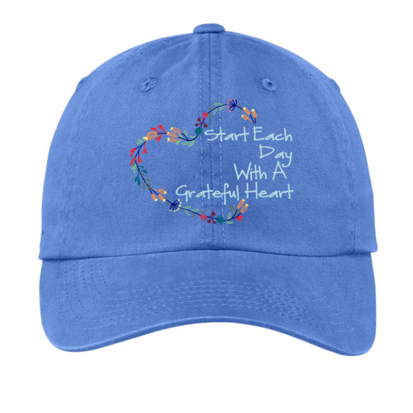 Grateful Heart Hat - Blue