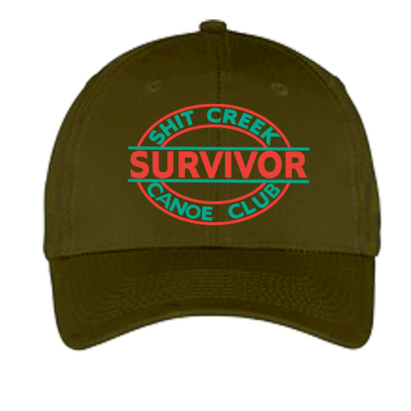 Sh#t Creek Survivor Hat - Olive
