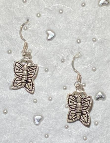 Mini Butterfly Sterling Earrings