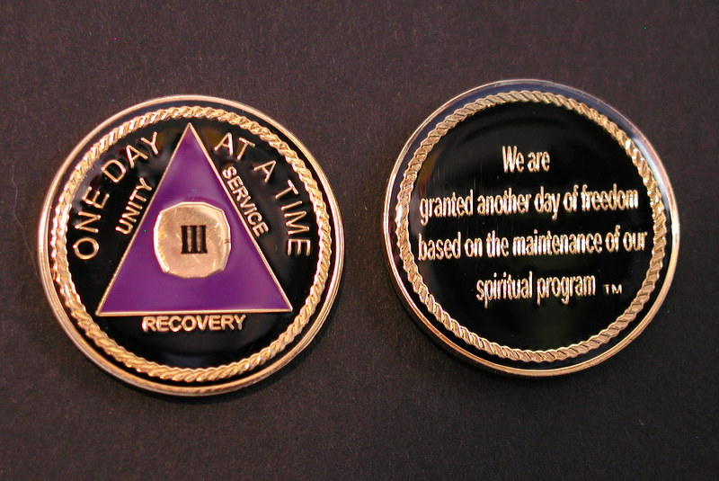LnL Tri Plate Medallion Purple & Gold