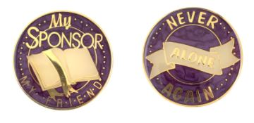 My Sponsor My Friend Tri Plate Medallion (PURPLE)